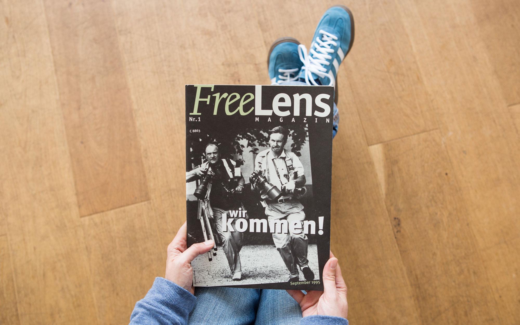 Wir kommen – so die klare Ansage auf dem Titel der ersten Ausgabe des FREELENS Magazins. Das Titelfoto stammt von Gaby Sommer. Foto: Lucas Wahl