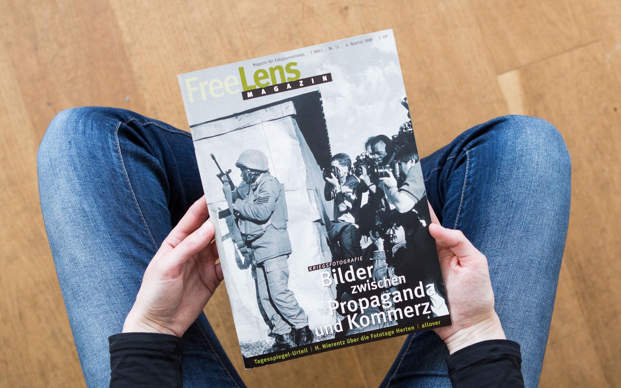 Kriegsfotografie – Bilder zwischen Propaganda und Kommerz. Das Titelfoto zeigt einen Ausschnitt einer Aufnahme von Gideon Mendel. Foto: Lucas Wahl