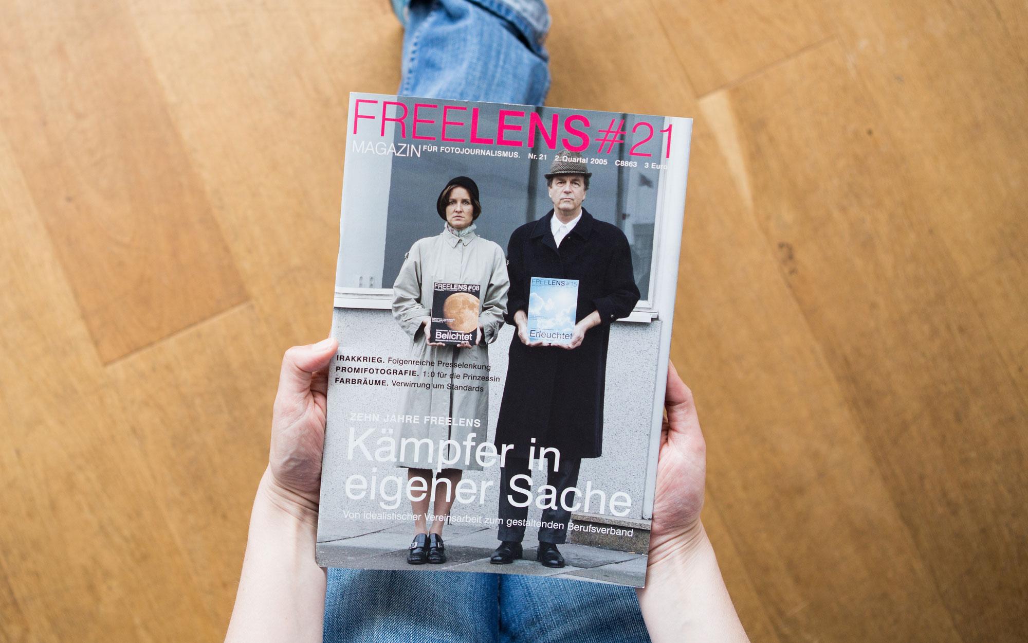 Zehn Jahre FREELENS – das Titelmotiv zum Jubiläum fotografierte Jörg Modrow. Foto: Lucas Wahl