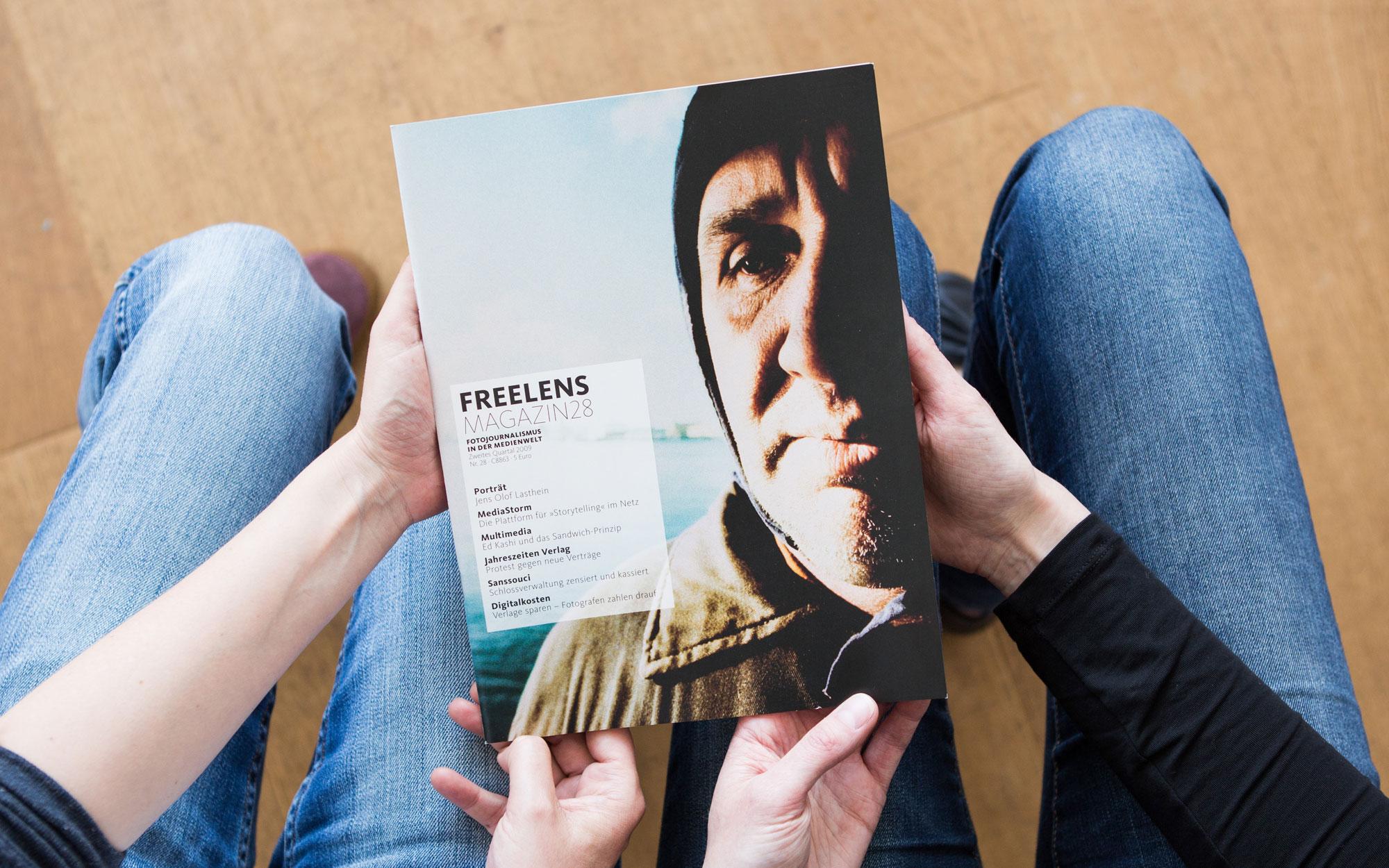 Nicht nur auf dem Titel, sondern auch im Magazin im Porträt: Jens Olof Lasthein und seine Geschichten bei 140 Grad. Foto: Lucas Wahl