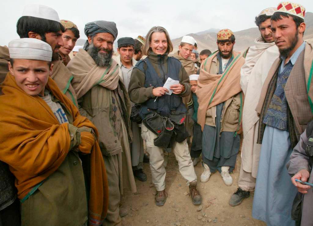 Anja Niedringhaus während einer Reportage in den Bergen von Kabul.