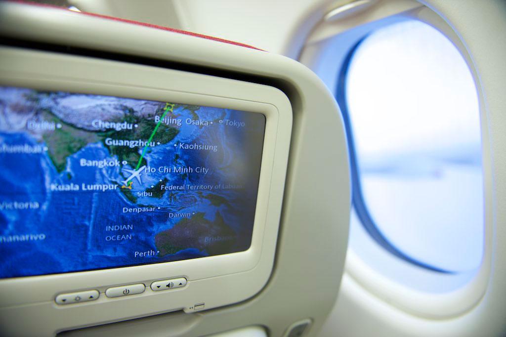 Flug mit einem Airbus A330 von Kuala Lumpur nach Beijing mit Flug MH0360, auf dem Sitz 37K, Abflug um 18.00 Uhr. Foto: Fabian Biasio