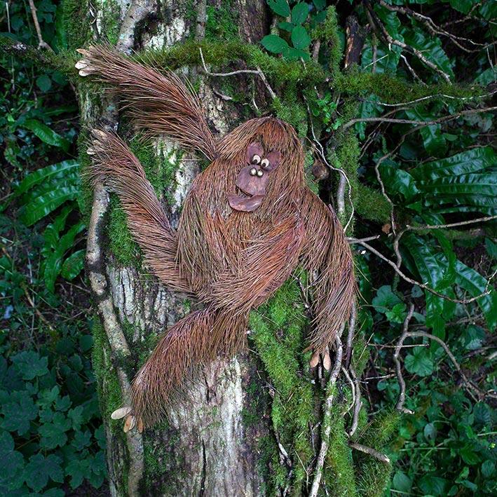 Orang Utan aus dem Buch »Was macht das Blättertier denn hier?« Foto: Eva Häberle
