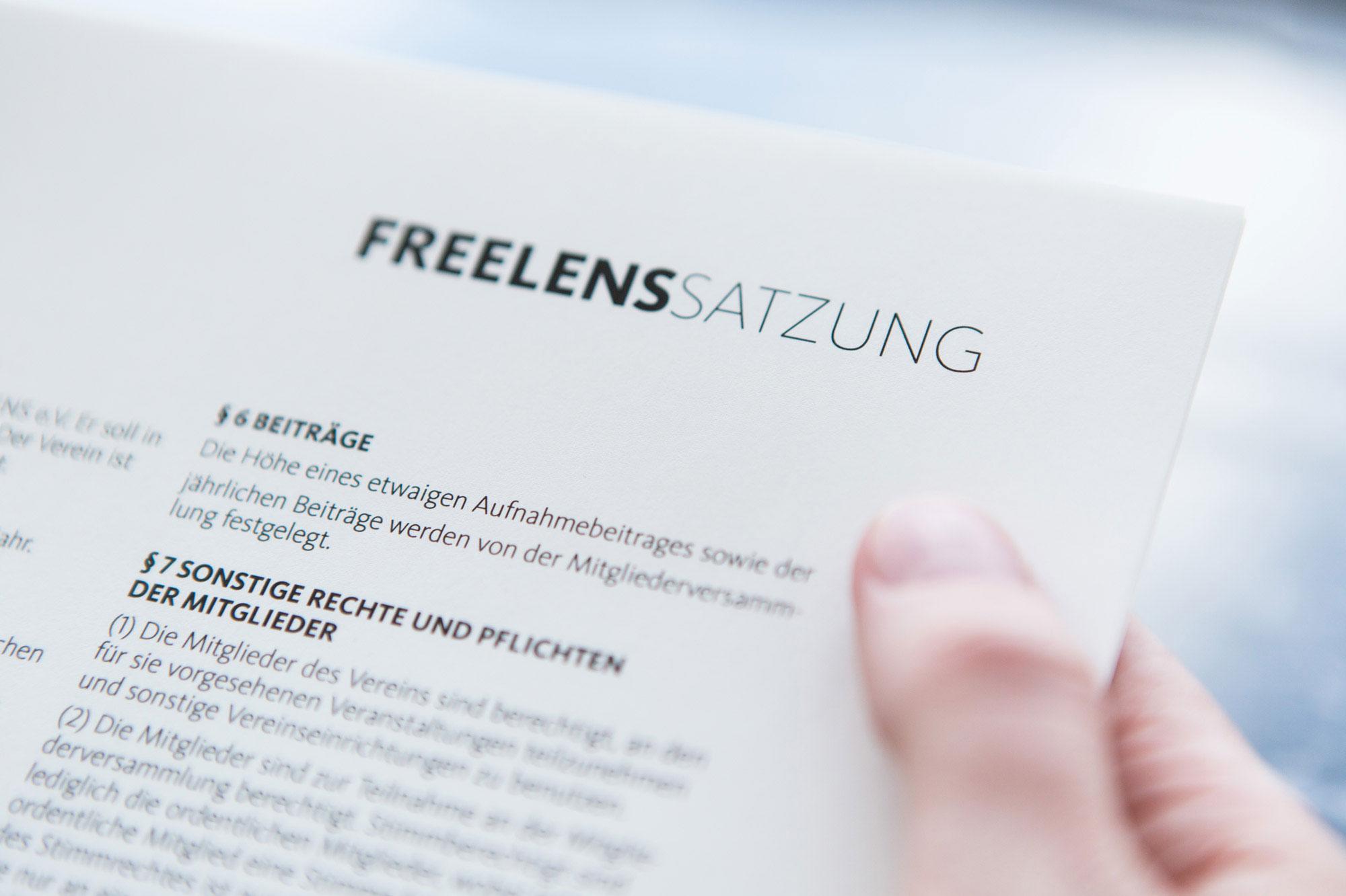 FREELENS Satzung von FREELENS e.V.