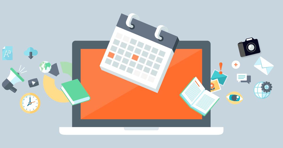 Planungstools können einem dabei helfen, beim Bespielen verschiedener Social-Media-Kanäle den Zeitaufwand zu reduzieren. Illustration: FREELENS unter Verwendung von Vektordateien von Pure Solution/Fotolia