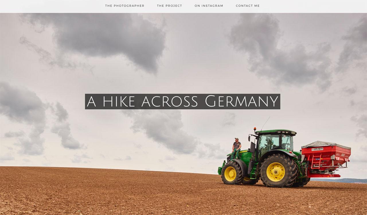 Screenshot der Projektwebseite www.50days.de. Foto: Andreas Teichmann