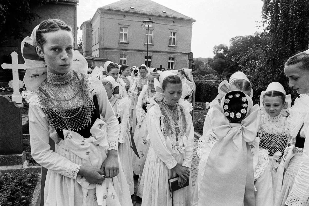 Fronleichnamsfest in Crostwitz, 1992. Foto: Andreas Varnhorn