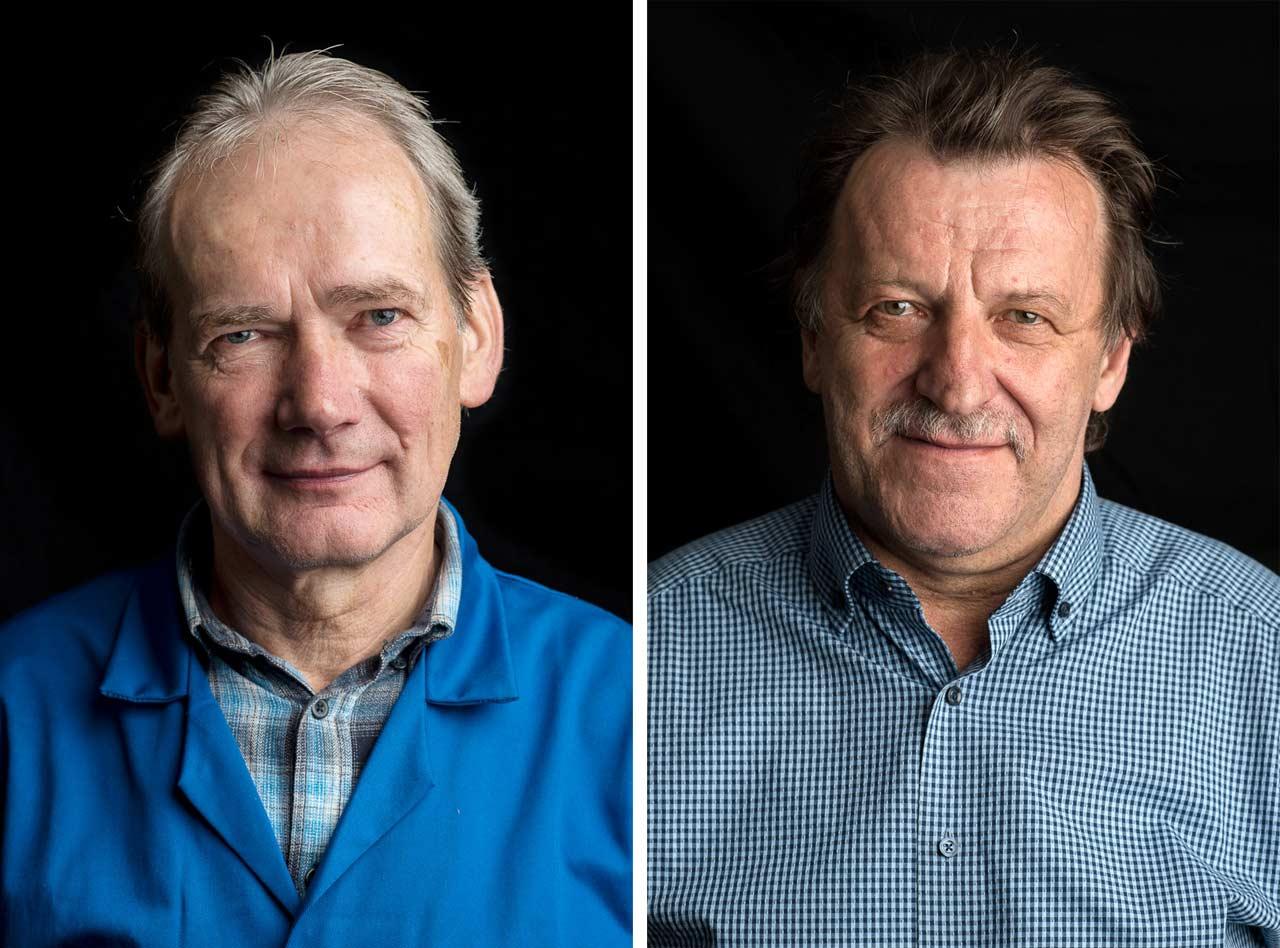 25 Jahre später hat Andreas Varnhorn einige der damals Porträtierten erneut fotografiert, unter ihnen auch Nikolaus Dürlich (links) und Marco Jurk (rechts). Foto: Andreas Varnhorn